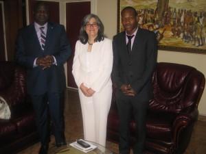 Visite du case matrix network en RDC (rencontre avec le ministre de la justice Luzolo Bambi Lessa)